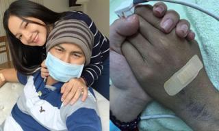 Xúc động hình ảnh vợ chồng Duy Nhân nắm chặt tay nhau lần cuối