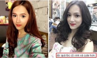 Hương Giang Idol 'già đanh' với tóc đen xoăn