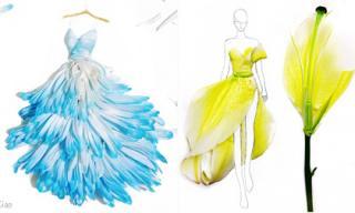 Những thiết kế thời trang tuyệt đẹp từ cánh hoa tươi