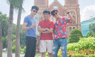 Hai diễn viên Thái dạo chơi Sài Gòn sau khi dự Đêm hội chân dài 9