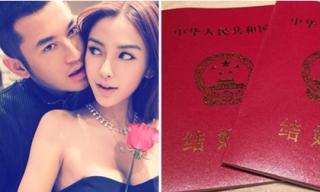 Angela Baby và Huỳnh Hiểu Minh chính thức đăng ký kết hôn