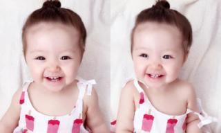 Cadie 'gây sốt' với nụ cười lộ răng sữa cực yêu