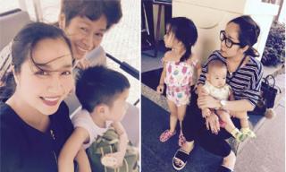 Gia đình Ốc Thanh Vân 'tưng bừng' đi chơi