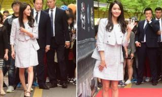 Yoona lộ thân hình 'cò hương' với váy rộng