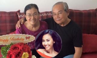 Đoan Trang khoe ảnh bố mẹ phúc hậu và rất tình cảm
