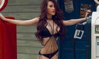 Lucy Trang Nguyễn gợi cảm, khoe nội y đầy khiêu khích