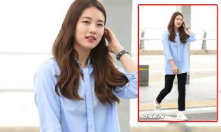 Bạn gái Lee Min Ho giản dị nhưng dễ thương tại sân bay