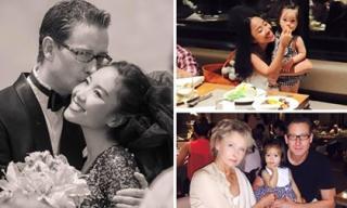 Đoan Trang hạnh phúc bên gia đình trong kỷ niệm ngày cưới