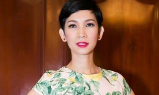 Xuân Lan rạng rỡ dự tọa đàm của Hoa hậu Hoàn vũ