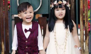 Bé Jacky Minh Trí biểu cảm siêu đáng yêu bên 'bạn gái'