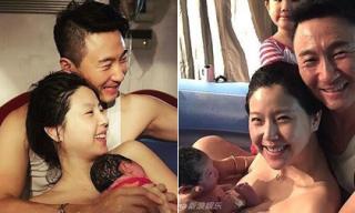 Mỹ nhân 'Kim Sam Soon' hé lộ ảnh sinh con dưới nước