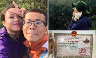 Thái Trinh leo núi liên tục 12 tiếng, chinh phục đỉnh Phan Xi Păng 3143m