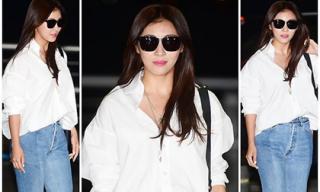 Ha Ji Won bị chê ăn mặc lỗi thời khi xuất hiện ở sân bay