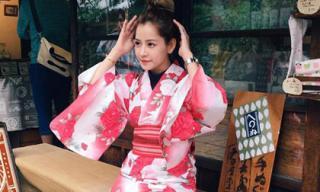 Chi Pu hóa gái Nhật khi diện kimono