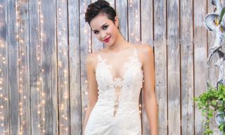 Phương Mai khoe làn da bánh mật 'nóng bỏng' khi làm 'cô dâu'