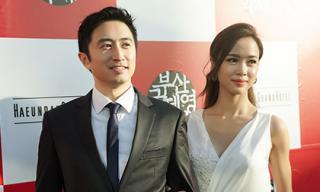 Vũ Ngọc Anh 'sánh đôi' David Trần trên thảm đỏ LHP Busan