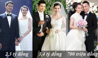 Bóc giá những chiếc váy cưới đắt hơn vàng của sao Hoa ngữ