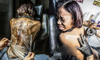 Cận cảnh nỗi đau đớn khi xăm hình