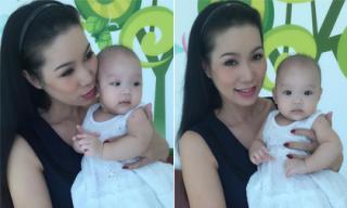 Con gái Trịnh Kim Chi diện váy trắng xinh như công chúa
