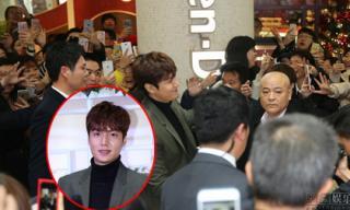 Lee Min Ho tươi rói xuất hiện giữa 'rừng fan' bao vây