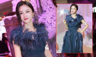 Thang Duy mất điểm vì mặc váy quá rườm rà
