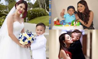 Thanh Thảo khoe loạt ảnh tình cảm bên con trai nuôi Jacky Minh Trí