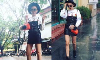 Tóc Tiên diện thời trang 'chất lừ' dạo phố