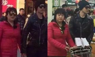 Huỳnh Hiểu Minh nắm tay mẹ tình cảm khi đi mua sắm