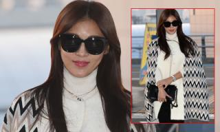 Ha Ji Won sành điệu ở sân bay lên đường đi dự MAMA 2015