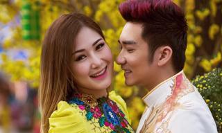 Hương Tràm tình tứ cùng Quang Hà trên phố xuân