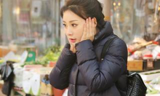 'Gái hư' Liễu Nham gây sốt với thời trang ngày lạnh