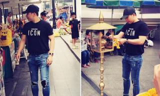 Vũ Khắc Tiệp tăng cân vẫn sành điệu tại thủ đô Bangkok
