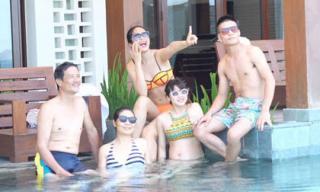 Gia đình Ngọc Hân vui vẻ đi du lịch Đà Nẵng