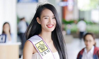 Bắt gặp Á hậu Lâm Thuỳ Anh trở về nước sau ngày đăng quang