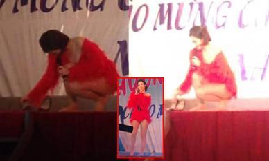 Gót giày vướng vào sân khấu lúc diễn, Đông Nhi tiếp tục được réo tên 'Nữ hoàng sự cố'