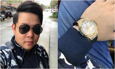 Quang Lê khoe đồng hồ 'khủng' đính kim cương hơn nửa tỷ mới tậu