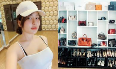 Bộ sưu tập túi xách và giày hiệu của hot girl Trâm Anh