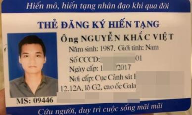 Ca sĩ Khắc Việt tiết lộ lý do đăng ký hiến tạng
