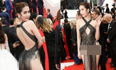 Trọn bộ ảnh Ngọc Trinh quyết 'chơi lớn', mặc như không trên thảm đỏ Cannes