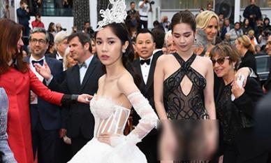 Không chỉ Ngọc Trinh, thêm một mĩ nhân Việt nữa cũng làm lố không kém tại thảm đỏ Cannes