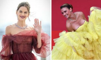 Thảm đỏ LHP Cannes 2019 ngày 9: Thiên thần Victoria's Secret kiêu sa; mỹ nhân vô danh với màn 'hớ hênh' gây sốc