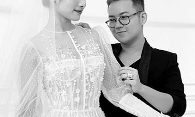 Hé lộ đầm cưới của bà xã Dương Khắc Linh