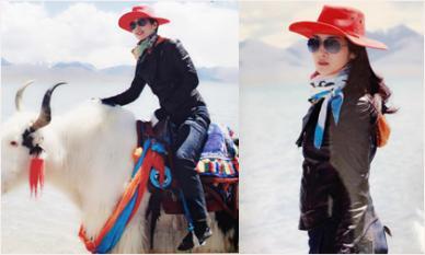Hoa hậu Đền Hùng Giáng My hóa nữ cao bồi trẻ trung cưỡi bò trắng ngao du Tây Tạng