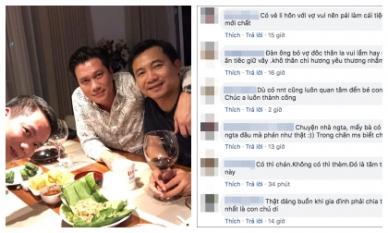 Việt Anh hứng 'gạch đá' dữ dội từ cộng đồng mạng khi ăn mừng linh đình sau ly hôn lần hai