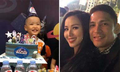 Bận rộn tổ chức sinh nhật cho con, Tâm Tít cũng không quên gửi món quà cùng lời nhắn ngọt ngào đến chồng