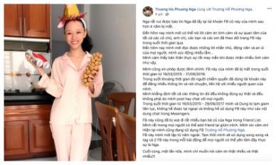 Vui mừng lấy lại được facebook sau 4 năm bị mất, đây là chia sẻ đầy bất ngờ từ HH Trương Hồ Phương Nga