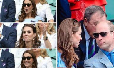 Loạt biểu cảm gây sốt mạng của Công nương Kate và Hoàng tử William trên khán đài