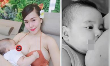 Đăng ảnh cho con bú bị chê, Mai Thỏ quay luôn clip và khẳng định: 'mình thích thì mình đăng thôi'