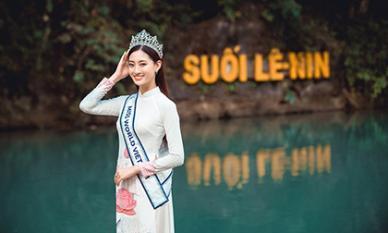 Hoa hậu Lương Thuỳ Linh thả dáng giữa chốn bồng lai tiên cảnh của Cao Bằng