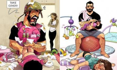 Bộ ảnh chứng minh cuộc sống của vợ chồng son sẽ thay đổi 180 độ khi có con